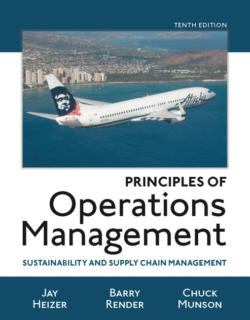 principles of operations management Heizer & render, 9th edition learn with flashcards, games, and more — for free.