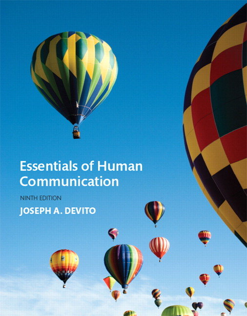 Devito essentials of human communication pearson essentials of human communication subscription 9th edition fandeluxe Images