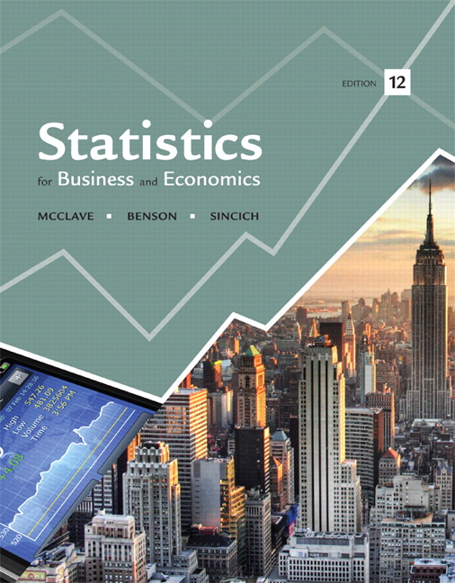Statistics For Business And Economics Subscription 12th Edition