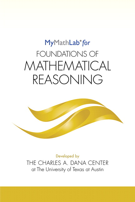 MyLab Math for Foundations of Mathematical Reasoning -- Student Access Kit