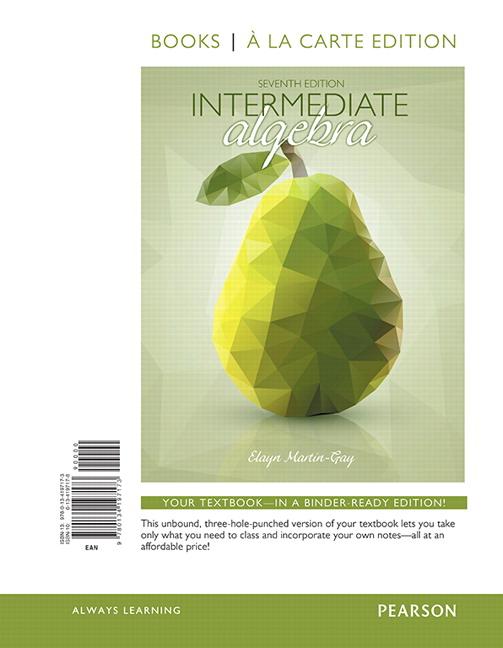 intermediate algebra robert blitzer 7th edition pdf