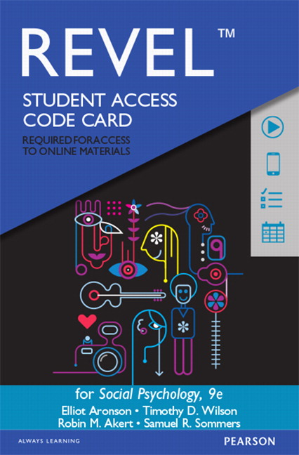 REVEL for Social Psychology -- Access Code Card, 9th Edition