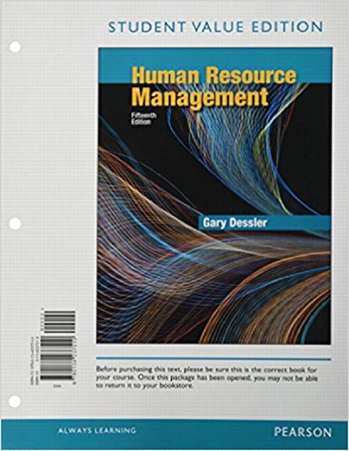 Dessler Human Resource Management 15th Edition Pearson