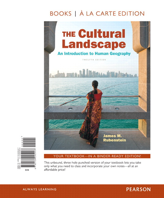 Rubenstein cultural landscape the an introduction to human cultural landscape the an introduction to human geography the books a la carte plus mastering geography with pearson etext access card package fandeluxe Gallery