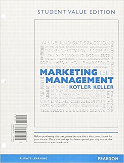 Kotler  U0026 Keller  Marketing Management