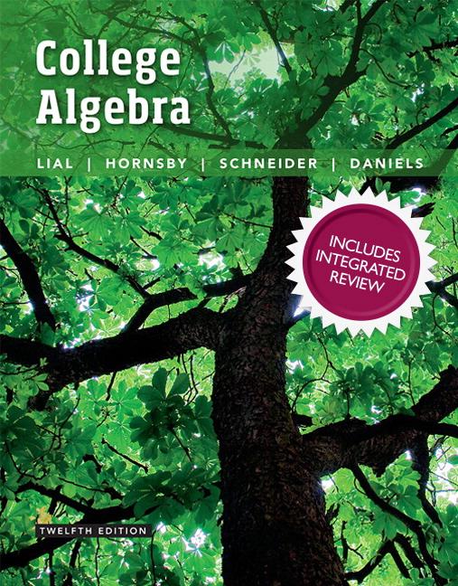 Lial, Hornsby, Schneider & Daniels, College Algebra with