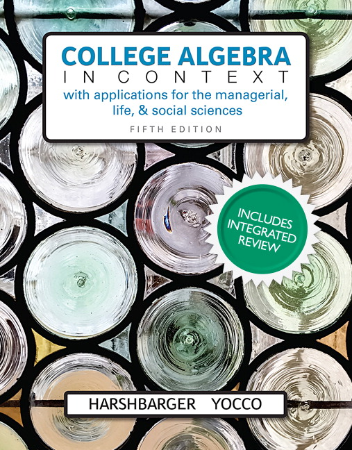 College Algebra in Context, Books a la Carte Edition, 5th Edition