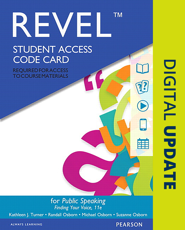 revel for public speaking finding your voice access card 11th edition