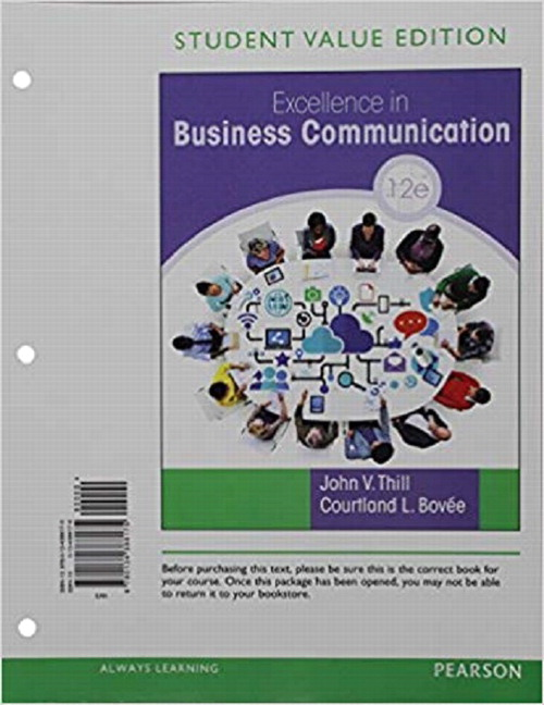 Thill & Bovee, Excellence in Business Communication | Pearson