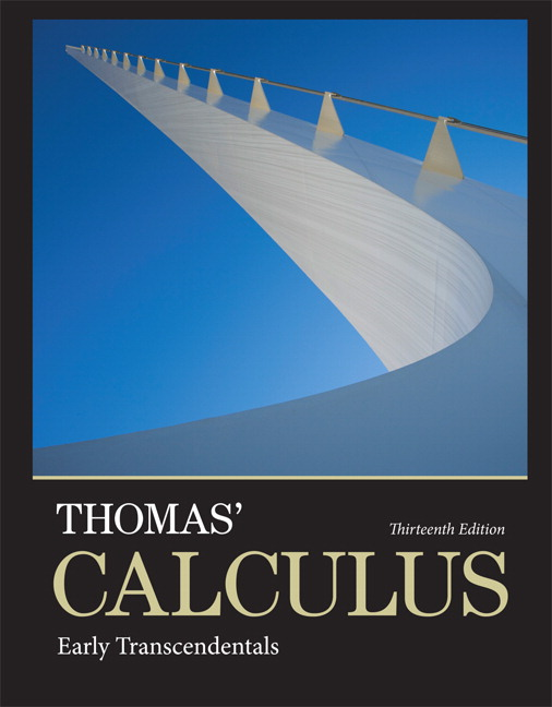 Thomas weir hass thomas calculus early transcendentals pearson thomas calculus early transcendentals 13th edition fandeluxe Gallery
