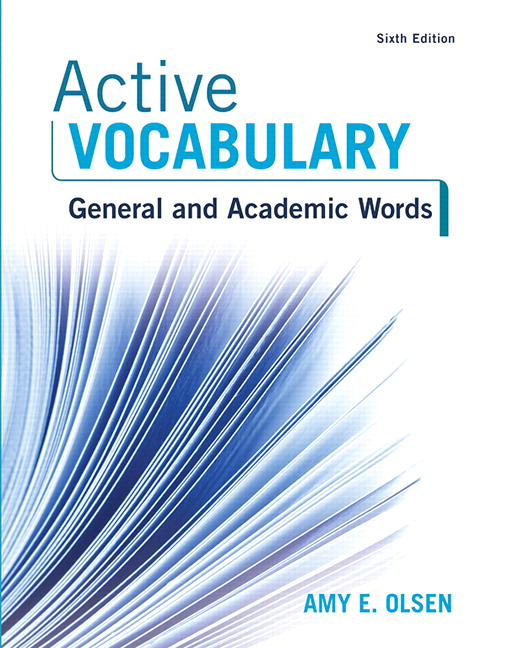 Olsen Active Vocabulary 6th Edition Pearson