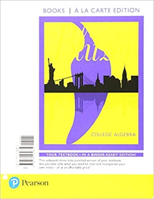 Blitzer, College Algebra | Pearson