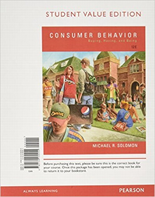 Consumer Behavior Buying Having And Being 10th Edition Pdf