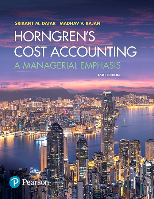 Datar Rajan Horngren S Cost Accounting A Managerial