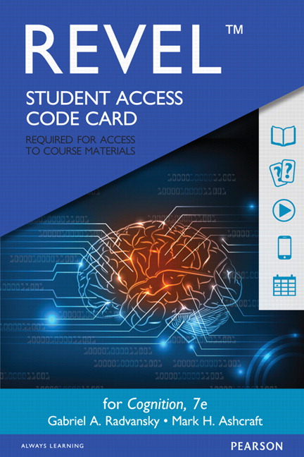 Radvansky ashcraft revel for cognition access card 7th revel for cognition access card 7th edition fandeluxe