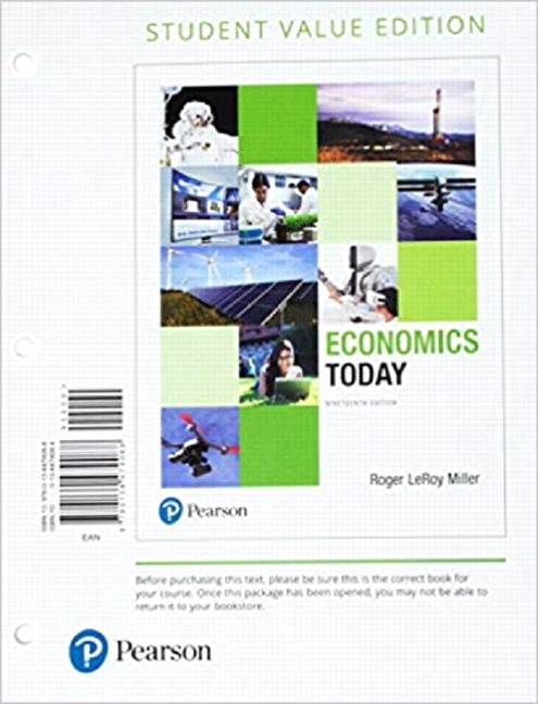 Miller, Economics Today, 19th Edition | Pearson