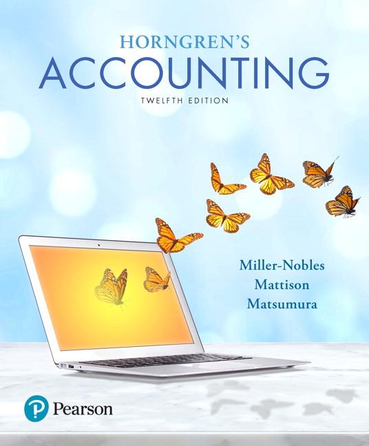 miller nobles mattison matsumura horngren s accounting pearson rh pearson com Pearson CourseSmart Pearson Online Learning