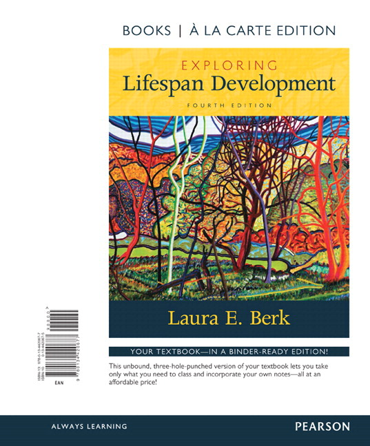 Berk exploring lifespan development 4th edition pearson exploring lifespan development books a la carte plus new mylab human development access card package 4th edition fandeluxe Image collections
