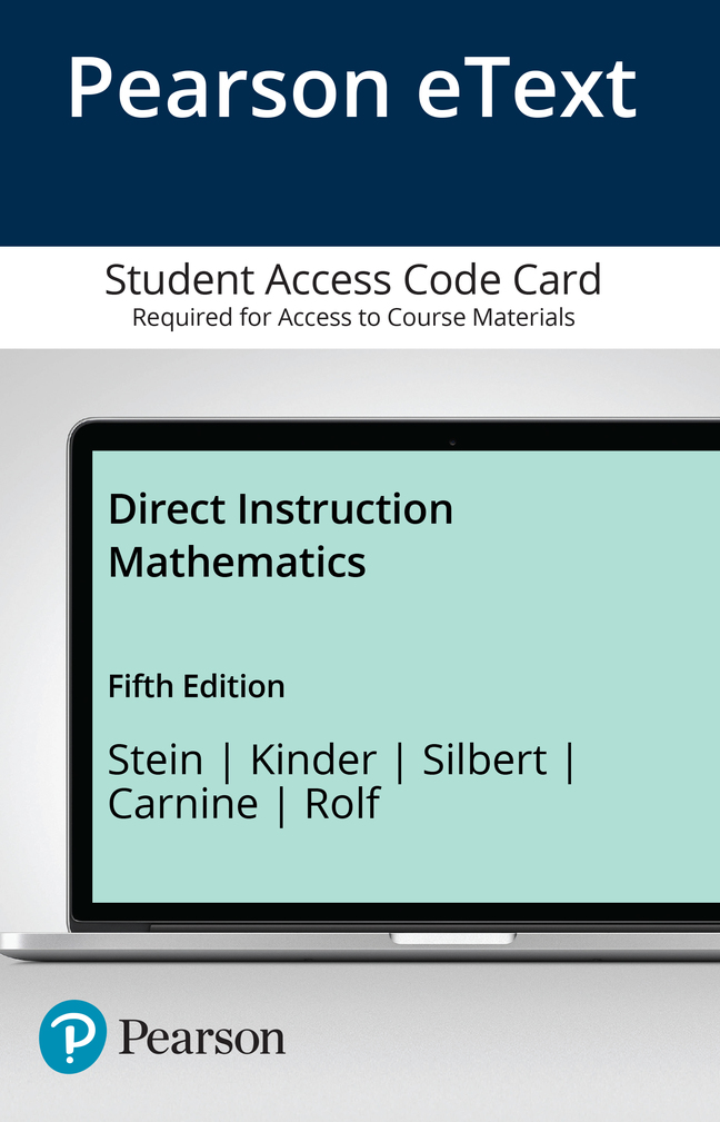 Stein Kinder Silbert Carnine Rolf Direct Instruction