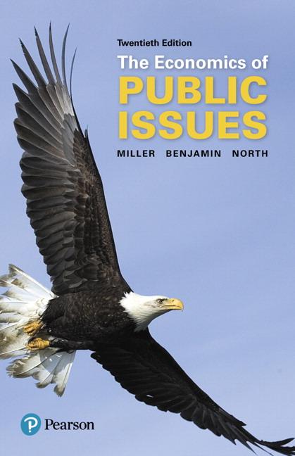 Miller Benjamin North Economics Of Public Issues 20th