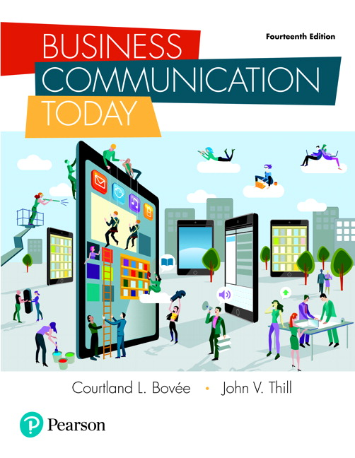 Business Communication Book Cover ~ Bovee thill business communication today pearson