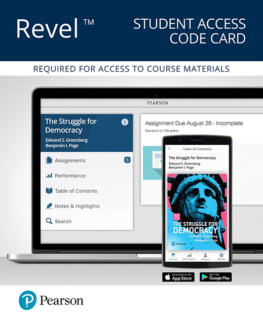 REVEL for The Struggle for Democracy, 2016 Election Edition -- Access Card, 12th Edition