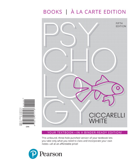 Ciccarelli White Psychology 5th Edition Pearson