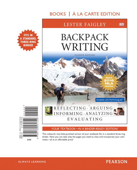 Faigley backpack writing mla update edition 4th edition pearson backpack writing mla update edition books a la carte edition 4th edition fandeluxe Image collections