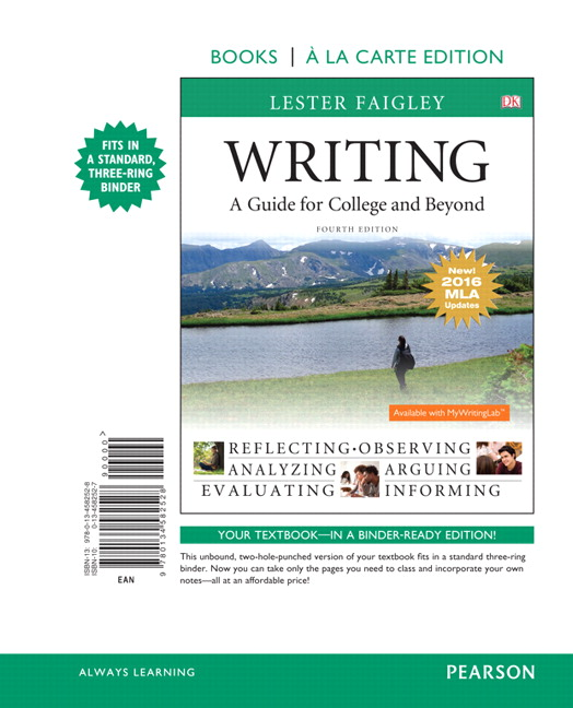 Writing: A Guide for College and Beyond, 3rd Edition