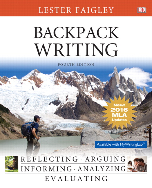 Faigley backpack writing mla update edition 4th edition pearson backpack writing mla update edition 4th edition fandeluxe Image collections
