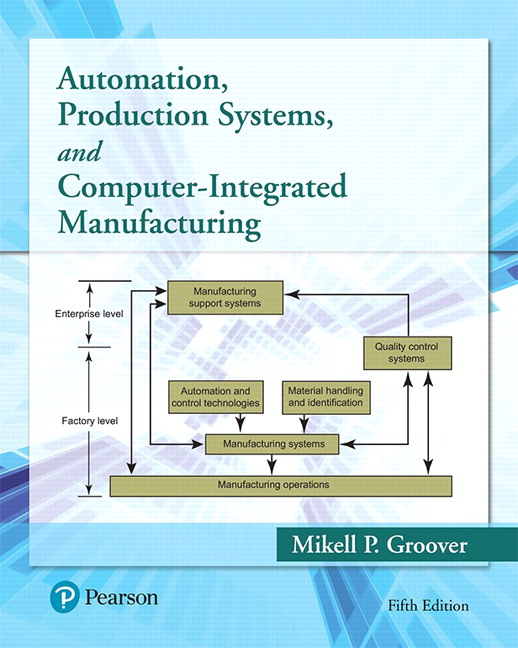 Groover Automation Production Systems And Computer Integrated Manufacturing 5th Edition Pearson