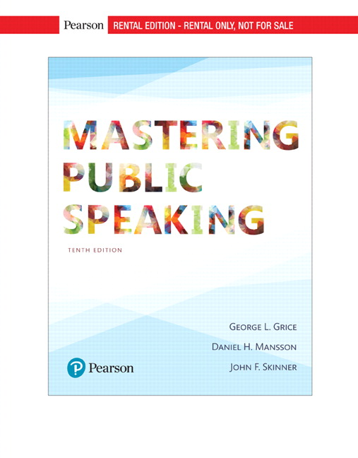 Grice skinner mansson mastering public speaking rental edition mastering public speaking fandeluxe Image collections