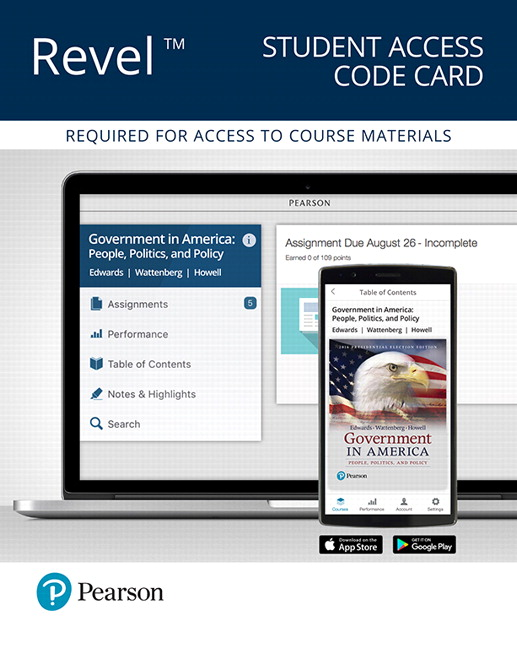 Government in America: People, Politics, and Policy, 2016 Presidential Election Edition (Subscription)