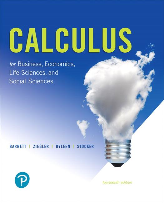 Barnett, Ziegler, Byleen & Stocker, Calculus for Business