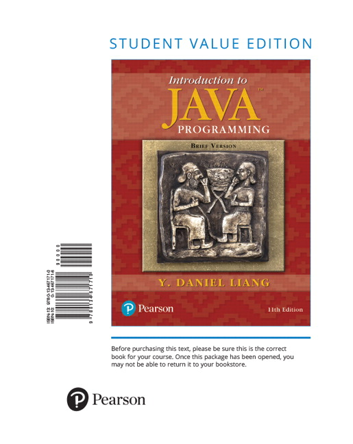liang introduction to java programming brief version student rh pearson com introduction to java programming by y daniel liang solution manual introduction to java programming 10th edition solutions manual