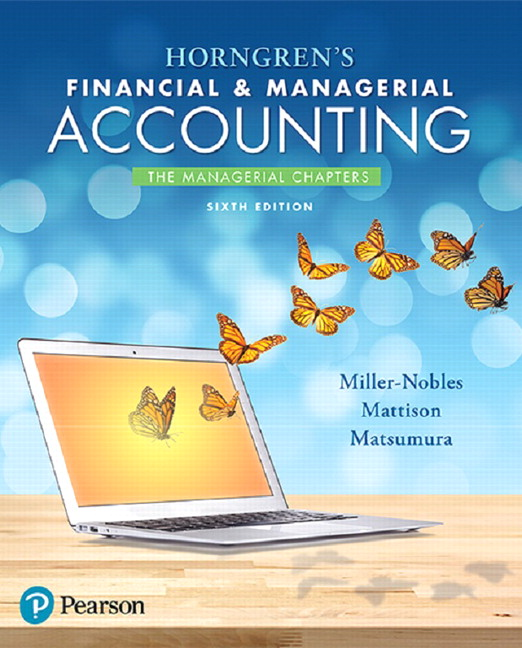 managerial accounting 6e chapter 1 Access financial and managerial accounting 6th edition chapter 1 solutions now our solutions are written by chegg experts so you can be assured of the highest quality.
