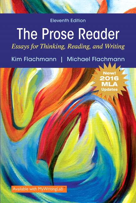 8th edition essay prose reader reading thinking writing Prose reader essays for thinking, reading this version of the prose reader: essays for thinking, reading and writing has been updated to reflect the 8th edition.