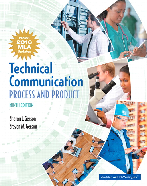 Gerson gerson technical communication process and product mla technical communication process and product mla update 9th edition fandeluxe Image collections