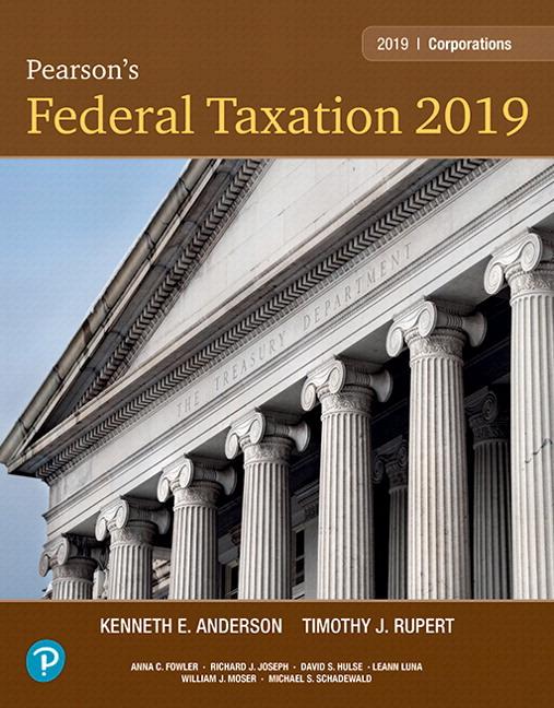 Rupert Anderson Pearson S Federal Taxation 2019