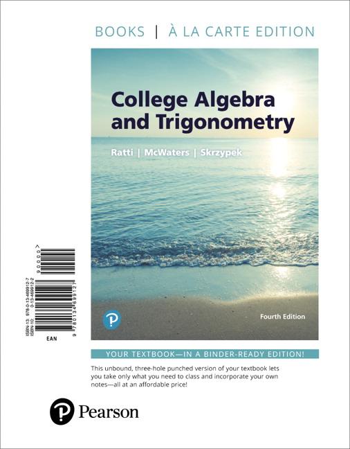 College Algebra Edition 2 Ratti Mcwaters