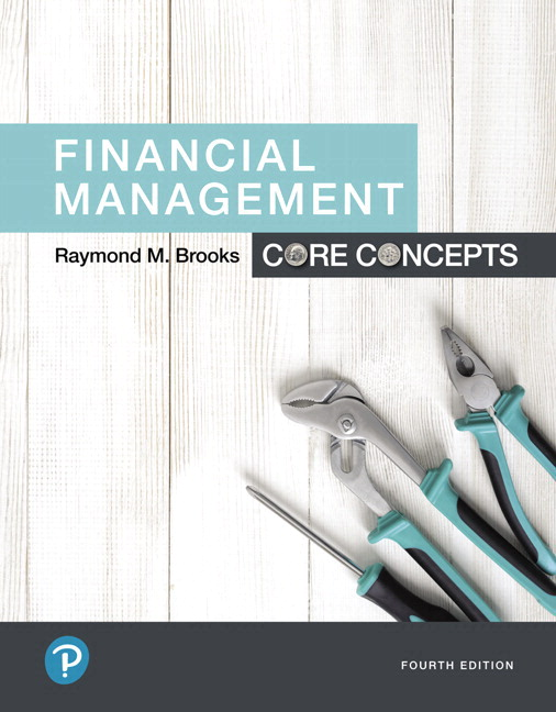 Brooks Financial Management Core Concepts 4th Edition Pearson