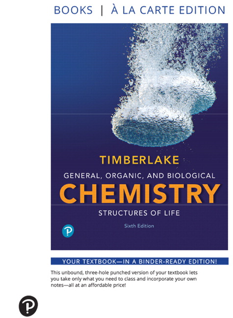 Timberlake laboratory manual for general organic and biological general organic and biological chemistry structures of life books a la carte edition 6th edition fandeluxe Image collections