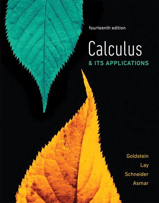 Calculus & Its Applications, 14th Edition