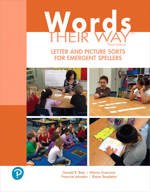 Words Their Way Letter and Picture Sorts for Emergent Spellers, 3rd Edition