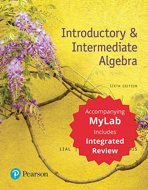 lial hornsby mcginnis introductory intermediate algebra with integrated review with. Black Bedroom Furniture Sets. Home Design Ideas