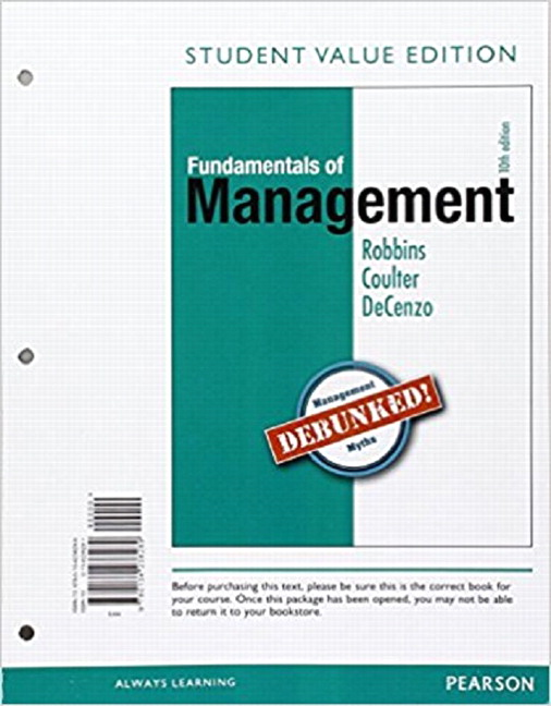 robbins coulter Test bank management 12th edition stephen p robbins, mary coulter https:// googl/muyunl robbins coulter management 13th edition quizlet management.
