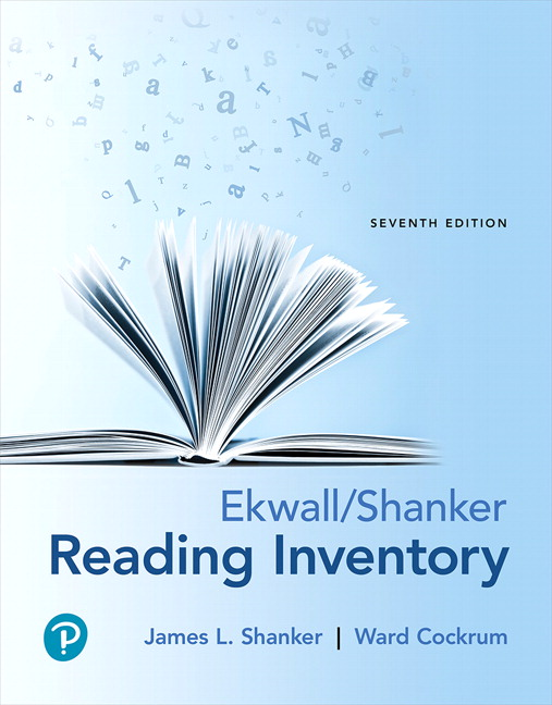 picture regarding Printable Informal Reading Inventory called Shanker Cockrum, Ekwall/Shanker Reading through Stock, 7th
