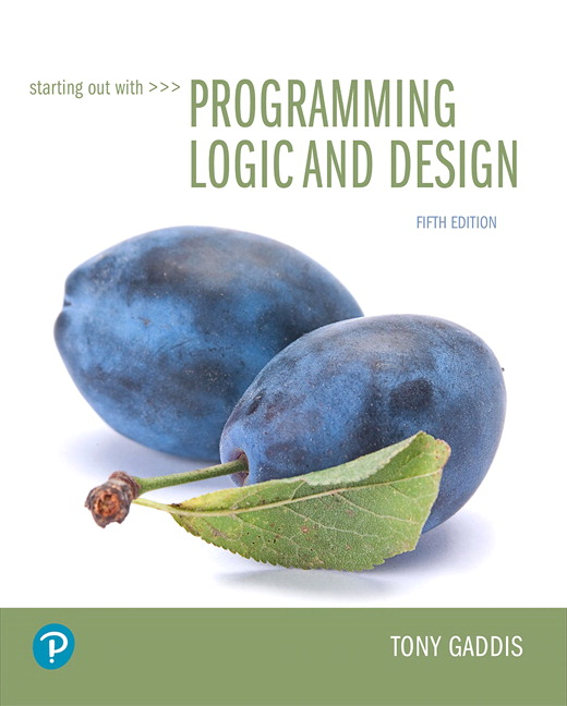 Gaddis Starting Out With Programming Logic And Design 5th