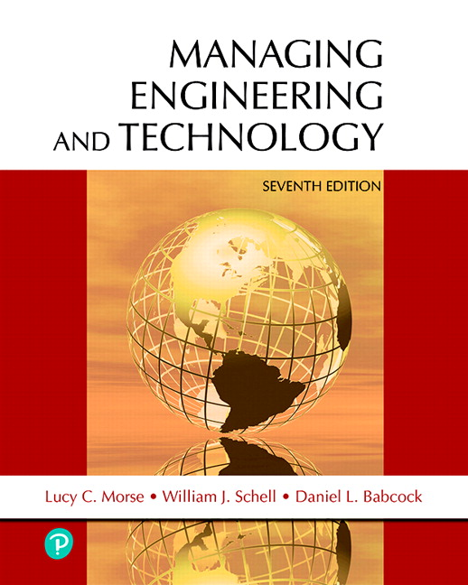 Morse Schell Babcock Managing Engineering And Technology 7th Edition Pearson
