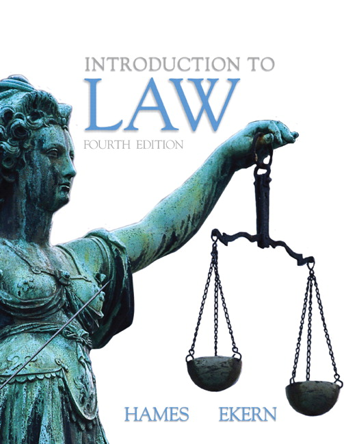 Hames ekern introduction to law 5th edition pearson book cover fandeluxe Image collections